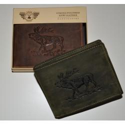 1705 Kožená peněženka s ražbou jelena