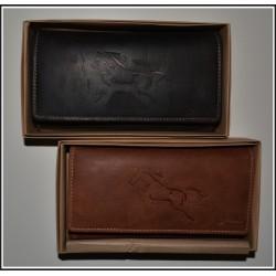 1257 K Dámská kožená peněženka s ražbou koně