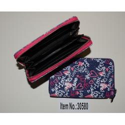 30580 Zipová jeansová peněženka