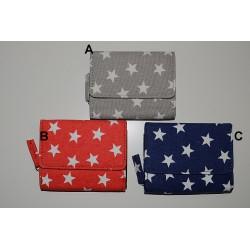 30425 Peněženka textilní, hvězdy