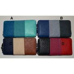30360 Zipová koženková peněženka s kovovým zipem