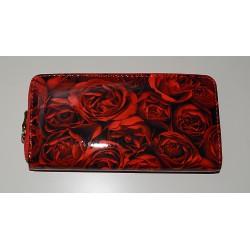 30040 Dámská zipová peněženka s motivem květů