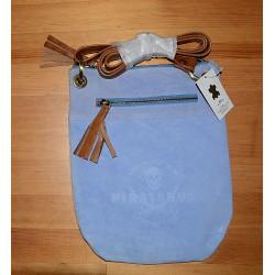834/91 Kožená kabelka přes rameno, s ražbou piráta