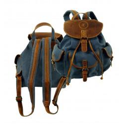 1341 Klasický Jeans+kůže batoh LandLeder