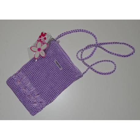 55105-1800 Háčkovaná kabelka s textilní podšívkou
