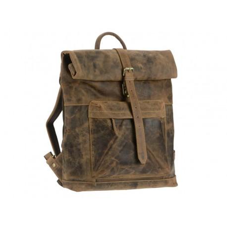 1671-25  Kožený batoh Greenburry