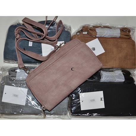 15350 Peněženka/kabelka na mobil koženka