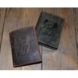 1701 Kožená pánská peněženka s ražbou divočáka