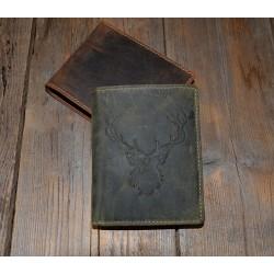 1701 RS Kožená pánská peněženka s ražbou jelena