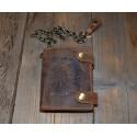 1796-RI-25 Pánská kožená peněženka s řetězem a ražbou