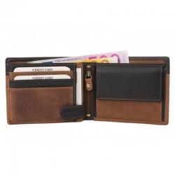 2311 Broušená kožená peněženka