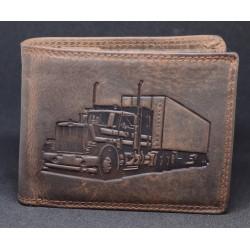 131 Kožená pánská peněženka s ražbou