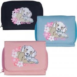 Dětská peněženka, koníci pes a kotě 131-84