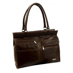 Kabelka - Nákupní taška jehněčí sešívaná kůže 960-020