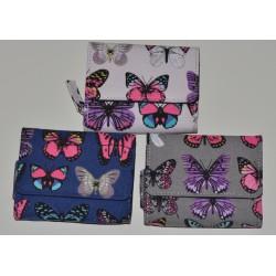 30150 textilní peněženka motýl